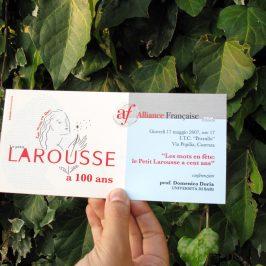 Les mots en fête: le petit Larousse a 100 ans.