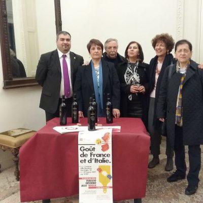 I membri dell'Alliance con i rappresentanti dell'Azienda Colacino Wines.
