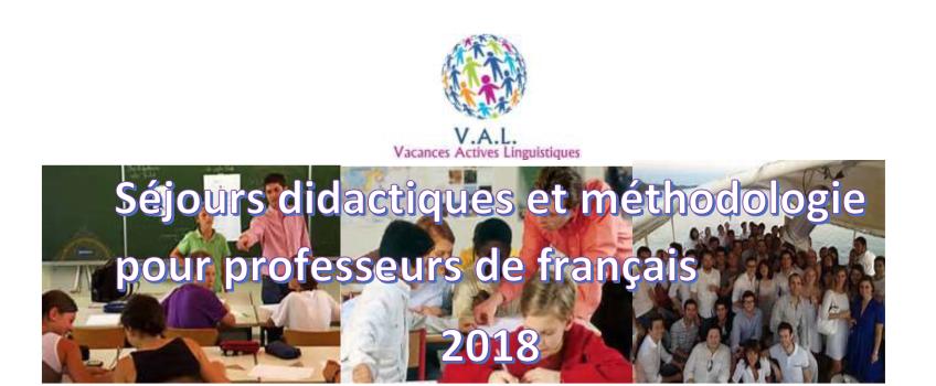 Programme pédagogiques pour profs de FLE avec V.A.L. !