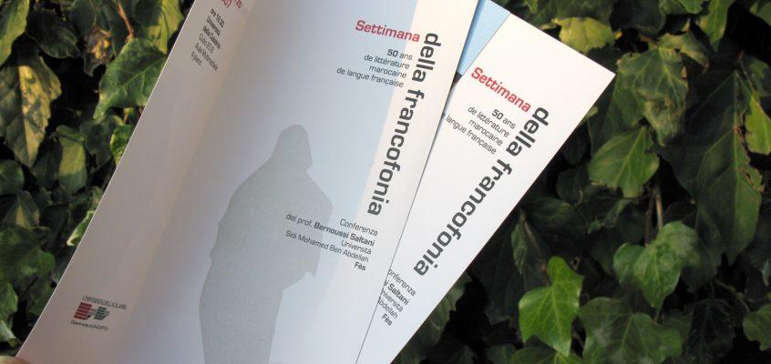 Settimana della francofonia: 50 ans de literature marocaine de langue française.