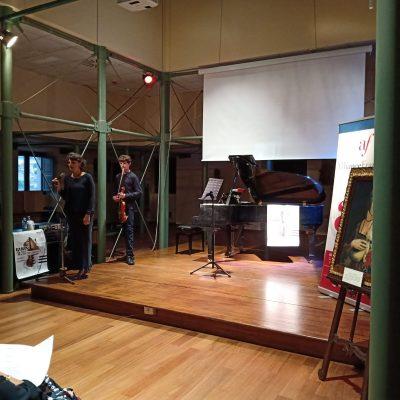 """""""Paris: 4, Rue de Madrid"""" con Paride Losacco al violino e Fiorella Sassanelli al pianoforte, tenuto presso la Biblioteca Nazionale di Cosenza."""